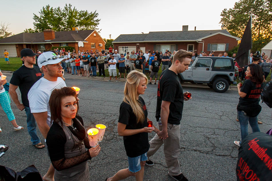 supporters of Matthew Stewart and the supporters of the Odgen Police Department