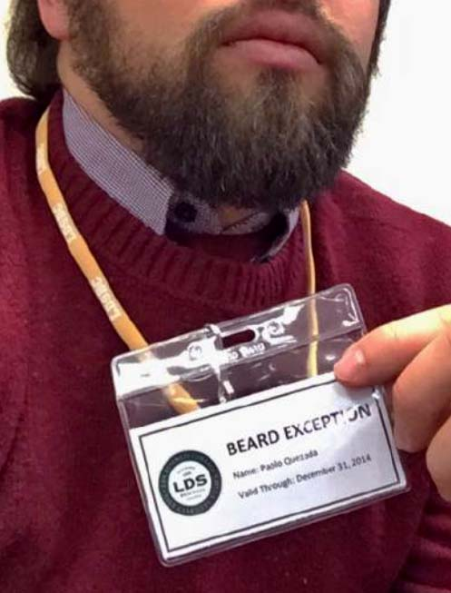 LDS Business College's Beard Exception Pass