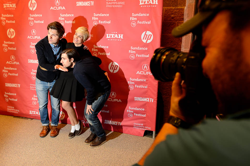 Adam Scott, Judith Godrèche, and Jason Schwartzman
