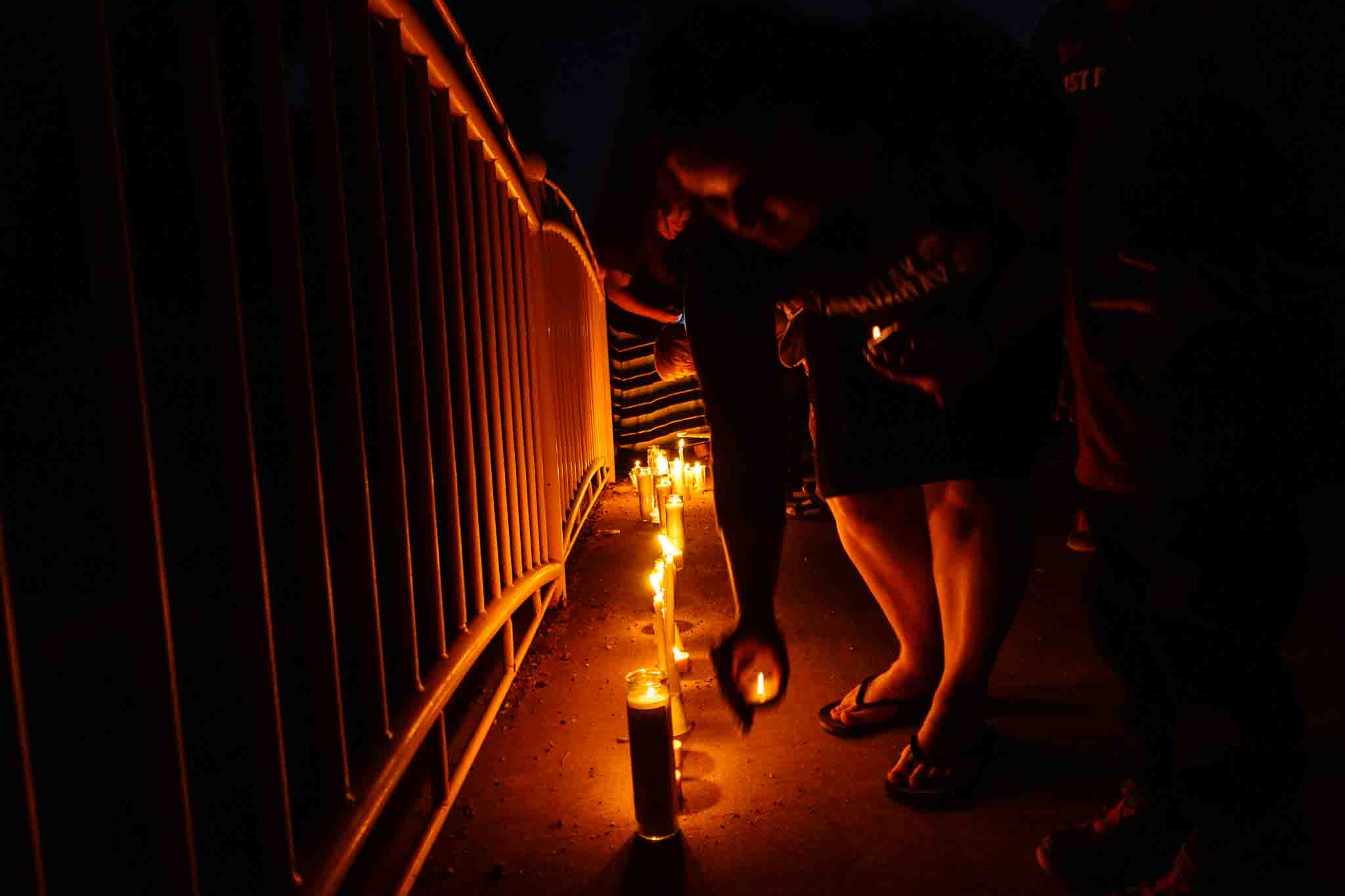 Photo: Residents of Hildale, UT and Colorado City, AZ, hold a memorial to the victims of the 2015 flash flood
