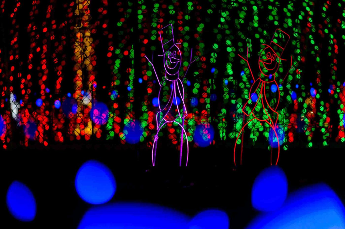 The lights at Christmas in Color in Kearns, which opens Friday for its second season